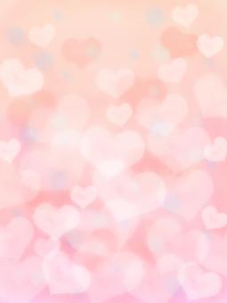 閃光粉紅色水彩心背景垂直