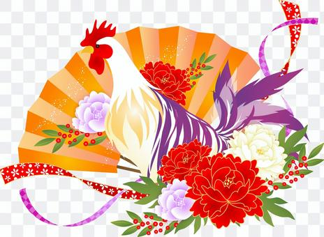 2017 Rooster Year's card illustration