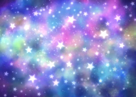閃閃發光的宇宙深藍色