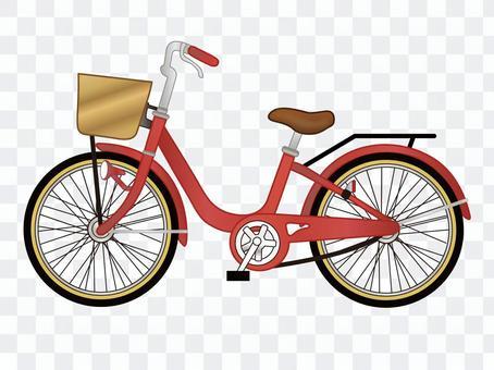 自行车红色
