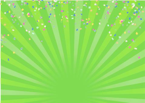 2色集中線背景【黄緑】