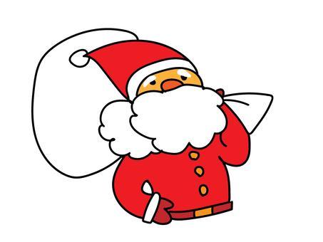 手寫風格的聖誕老人插圖