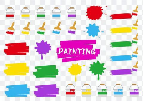 油漆插圖素材集