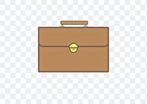 Leather bag 2-3 (brown)
