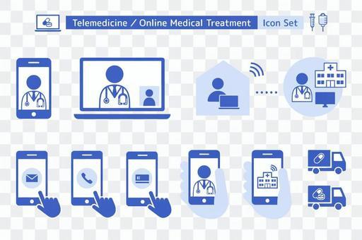 アイコンセット オンライン診療