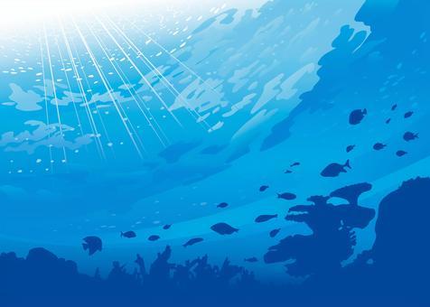 Seafloor background illustration