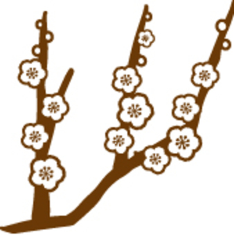 Plum blossoms Handwriting