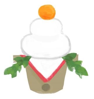 鏡餅(お正月素材)