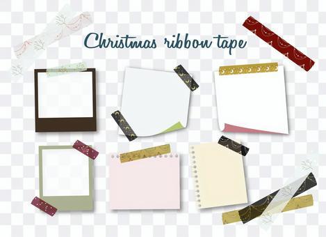 風備忘錄與聖誕節美紋紙膠帶