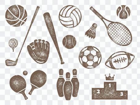 體育用品郵票