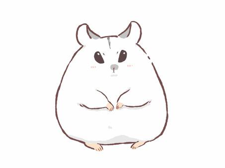 倉鼠(白)正常臉