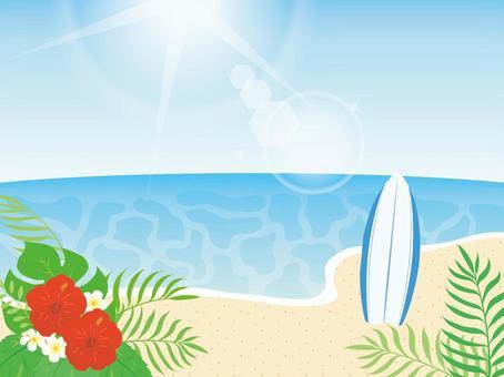 海和衝浪板