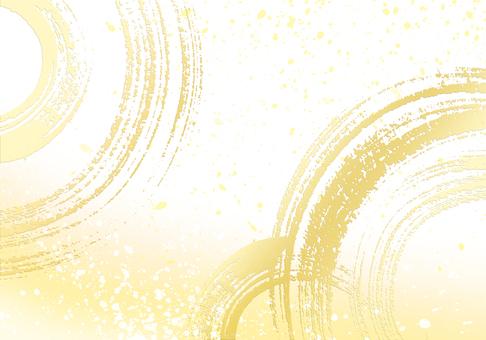 New Year / Shou / Celebration image Brush writing background Gold leaf