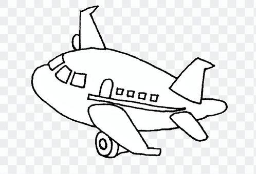 Airplane monochrome