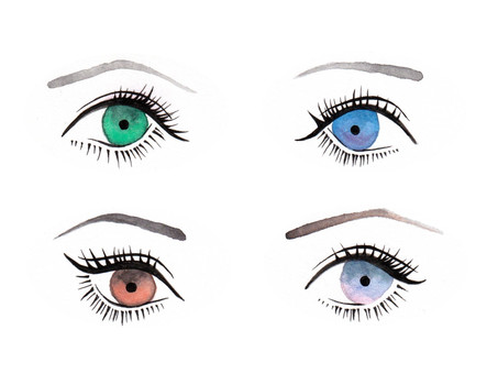 Hand-painted eye illustration 2 (4 types)
