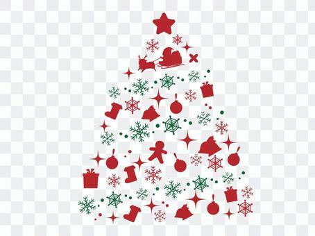 Christmas tree of silhouette