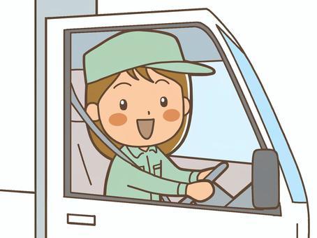 一位駕駛卡車司機的女士2