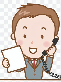 Business man: Telephone