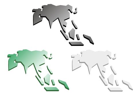 Asia-perspective 3D-3 color set