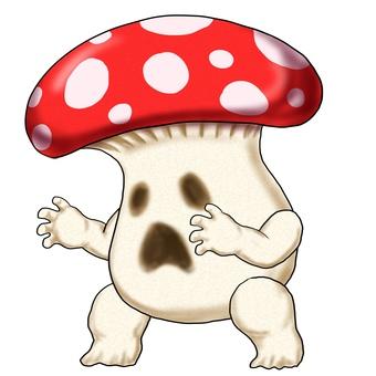 Mushroom monster sideways