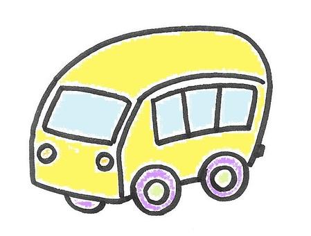 黄色巴士面包