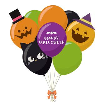 Halloween balloon assembly