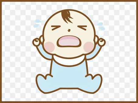 嬰兒圖_哭