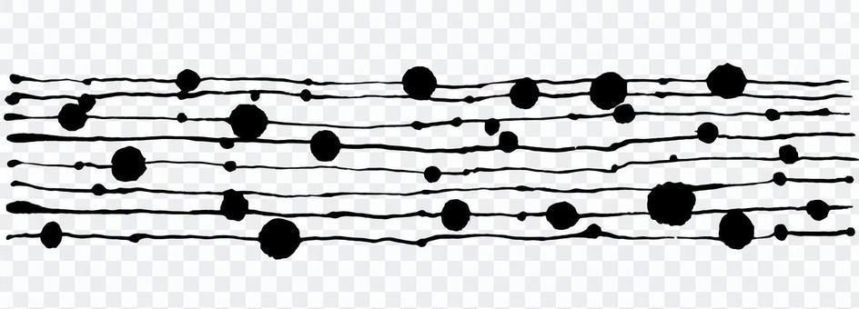 Black ink material illustration