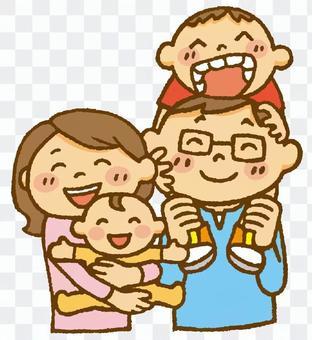 家庭(嬰兒和哥哥)