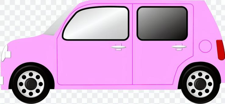 汽车(粉红色)