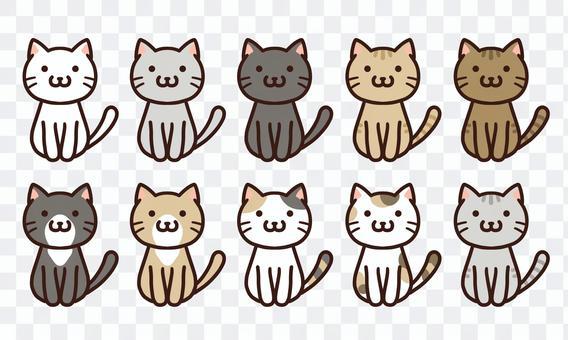 Cute cat free material