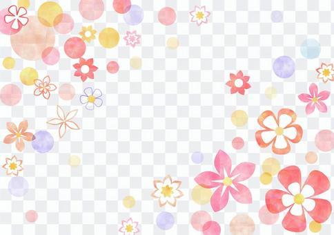 花卉图案_粉彩_粉红色的背景