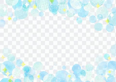 수채화 소재 052 비눗 방울