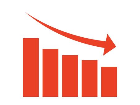 簡單降序圖形圖標:紅色