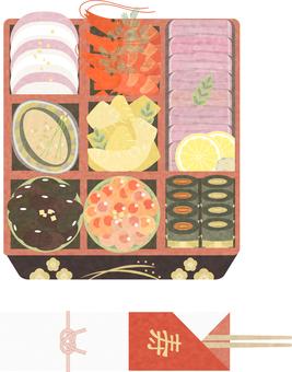 osechi 菜餚 06 的插圖