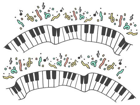 鋼琴鍵盤,框架,獨奏會
