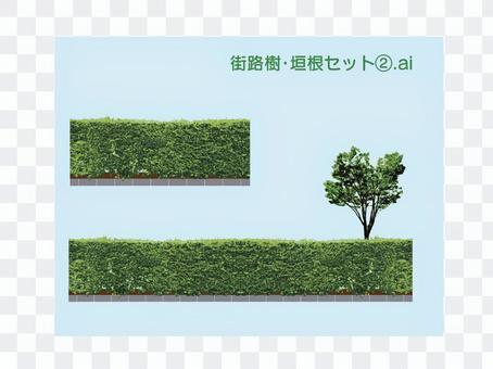 Roadside tree / hedge set 2