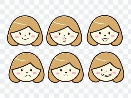 女性・表情