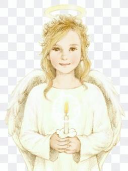 一個蠟燭的天使