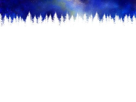 Winter milky way frame