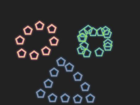 圓形/三角形/方形五邊形霓虹燈