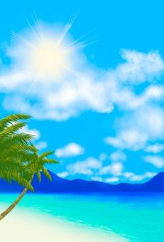 海灘風景明信片