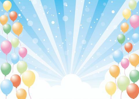 氣球和天空背景素材02