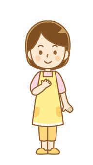 圍裙女人_微笑