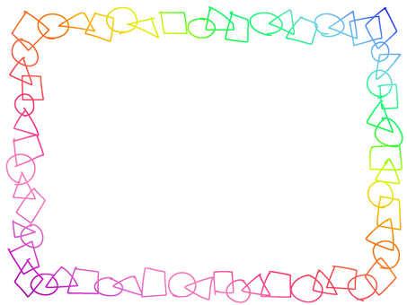 彩虹七彩的虹彩色七彩色框架裝飾框架