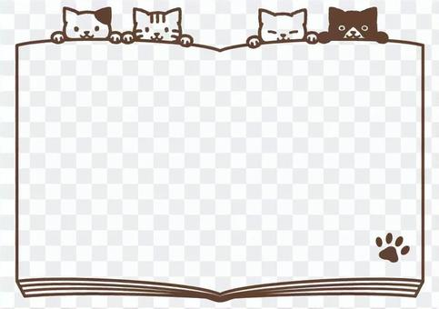 4 cats and book frame