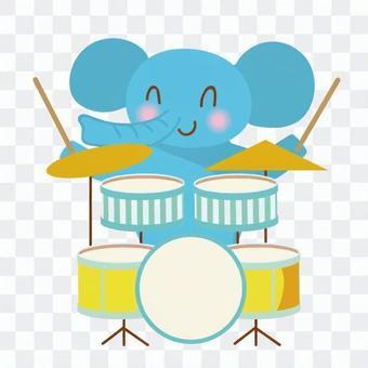 Drummer elephant