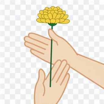 葬禮插花的形象