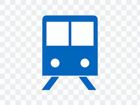 火車圖標剪影藍色