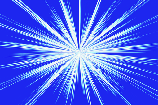 Blue and white concentrated line background material